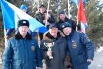 В Ачинске прошли соревнования по лыжным гонкам среди МЧСников