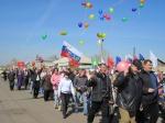 В Ужуре после 20-летнего перерыва  состоялась первомайская демонстрация