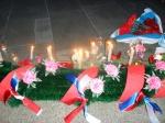 Вечером 9 мая назаровцы зажгли свечи в честь дня Победы