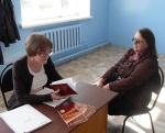 Специалисты социальной защиты населения Назарово провели встречу с жителями поселка Горняк