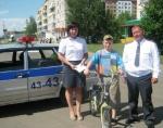 В Шарыпово прошел конкурс среди велосипедистов