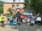 """Воспитанники детского сада """"Солнышко"""" еще раз вспомнили правила дорожного движения"""