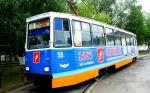 В Ачинске на городские рельсы вышел праздничный трамвай