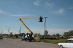 Новые тротуары и реконструкция уличного освещения в Ужуре