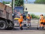 В Назарово ведутся работы по асфальтированию улиц