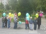 Воспитанники назаровского детского сада «Капитошка» вспомнили правила дорожного движения