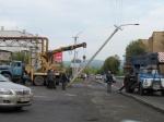 В Назарово автобус «СУЭК» сбил столб