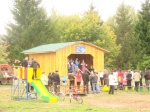 В селе Лапшиха Ачинского района состоялось  открытие  спортивно-игровой  площадки