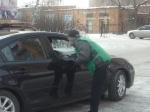 Члены организации «Новая жизнь» провели в Назарово акцию для автомобилистов