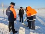 В Ачинске открыли ледовую переправу