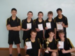 В Назарово подвели итоги соревнований по волейболу среди школьников