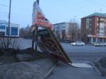 Ночной ураган в Ачинске обошёлся без серьёзных последствий