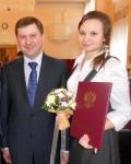 Ирина Юрченко из Ачинского района получила Президентскую премию
