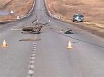 На шарыповской трассе произошла авария с участием мотоциклиста