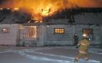 В Канске сгорела свиноферма