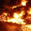 В Красноярске горит нефтебаза