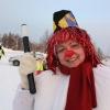 Полицейский Снеговик поздравил с Новым годом северо-енисейских водителей