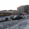 В центре Шарыпово на полчаса остановилось движение транспорта