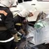В Красноярске водитель автобуса пострадал в ДТП
