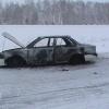 В Красноярском крае в загоревшейся иномарке чуть не погибли люди