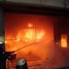 В Лесосибирске сгорел гараж с техникой