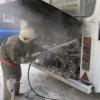Под Красноярском загорелся автобус «Красноярск-Тюхтет»