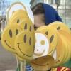 В Минусинске в день смеха раздавали улыбки
