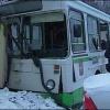 В Красноярске в результате столкновения двух автобусов пострадали люди