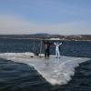 На Красноярском «море» спасли рыбаков