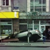 Иномарка снова вылетела на тротуар в Красноярске