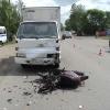 В Минусинске  грузовик врезался в мопед с двумя женщинами