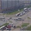 Nissan перевернулся в Советском районе Красноярска