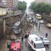 В Красноярске рухнула опорная стена ЖД моста. Один человек погиб