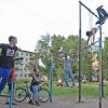 Во дворах Красноярска начался отборочный тур чемпионата города по подтягиванию