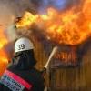 В Назаровском районе горел дом