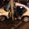 В Красноярске автомобиль врезался в столб, водитель погиб