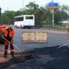 В Красноярске продолжается ремонт автомобильных дорог