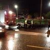 В Красноярске автомобиль зацепился за бордюр и врезался в столб