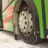 В Красноярске загорелся маршрутный автобус
