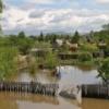 С затопленных дач Абакана воду откачивают шахтные насосы