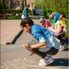 В Абакане прошёл конкурс рисунков на асфальте