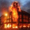 В Красноярске сгорело здание художественной мастерской