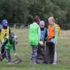 Ачинские футболисты очистили берег реки Чулым от мусора