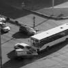 В Красноярске автобус столкнулся с двумя иномарками