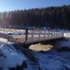 Движение транспорта в п. Верхняя Базаиха осуществляется по восстановленному мосту