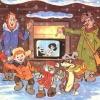 Россияне встречают Новый год дома с семьей