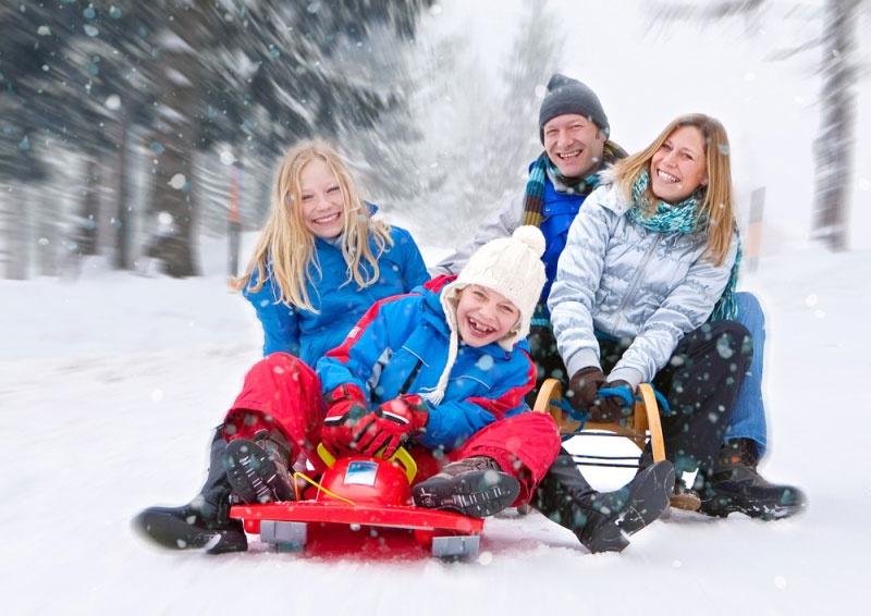 Зимний семейный отдых в подмосковье
