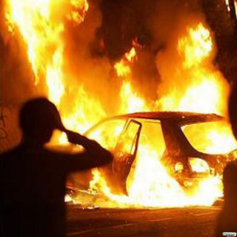 Ученик изНазарово угнал исжег автомобиль