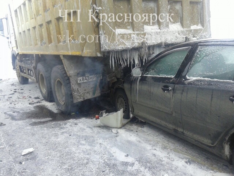 Из-за плохой видимости на«Путинском мосту» случилось массовое ДТП