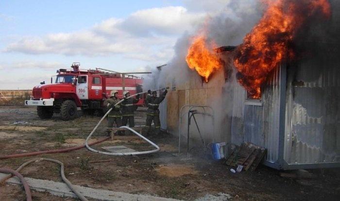 Тела 2-х мужчин найдены всгоревшем вагончике под Красноярском